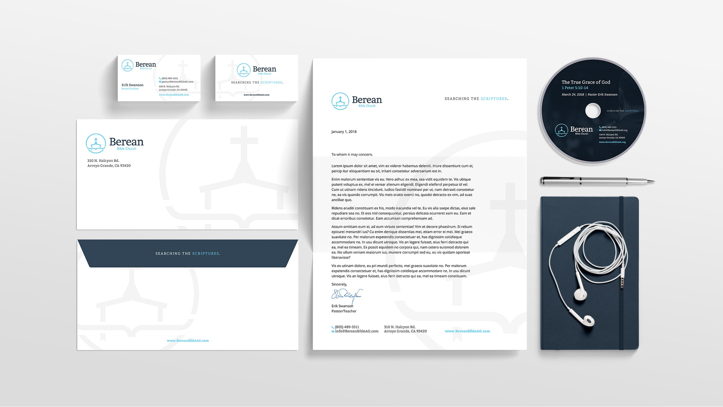 3 - Berean Rebrand, stationary