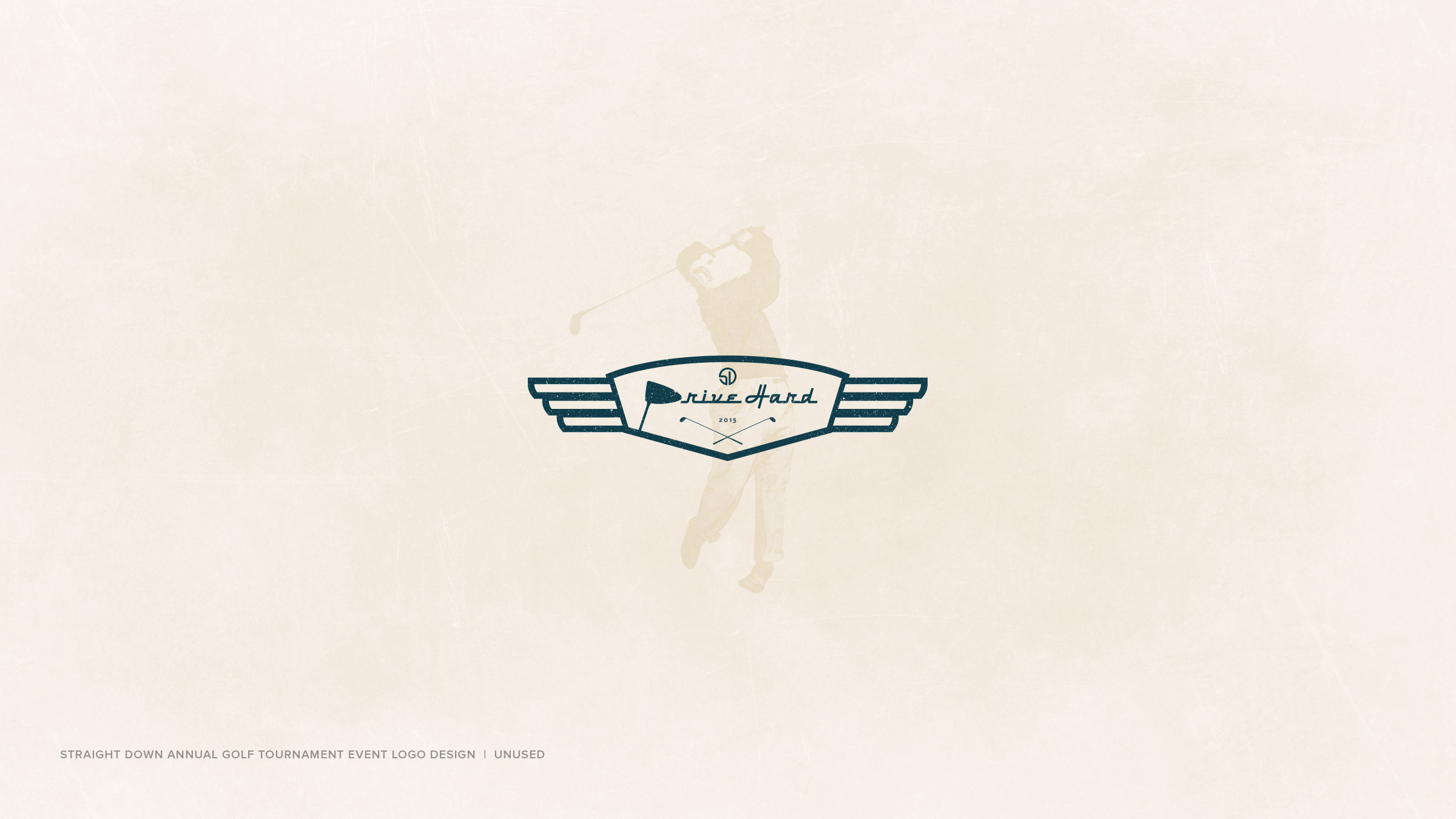 Logo-Design-Portfolio-v.2-Straight-Down-Drive-Hard-Golf-Tournament