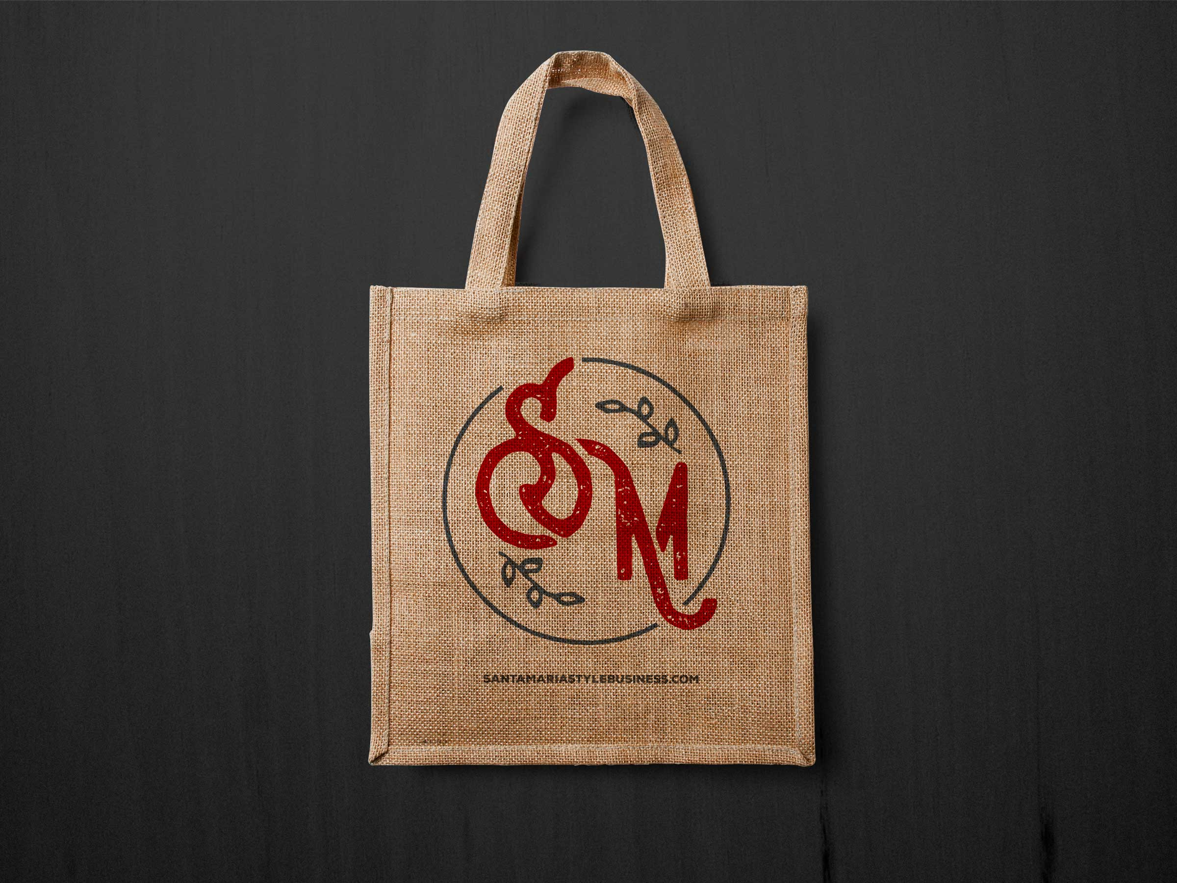 Santa-Maria-Stye-Biz-Brand-3c-logo-on-reusable-bag
