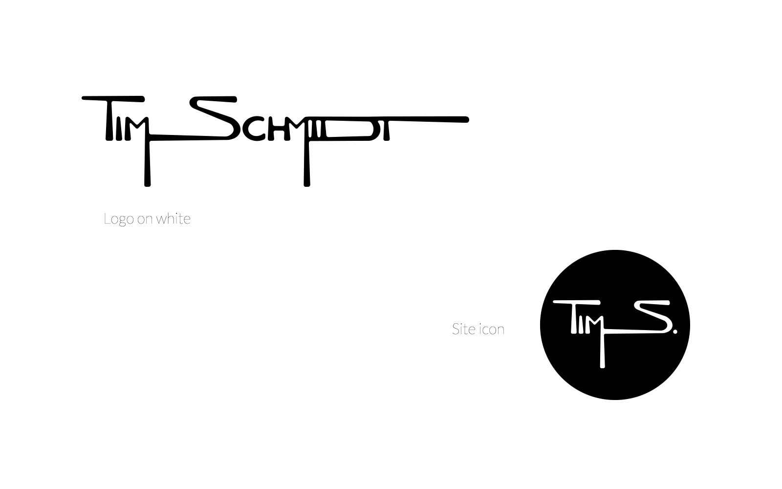 Tim Schmidt Branding, logo design + icon