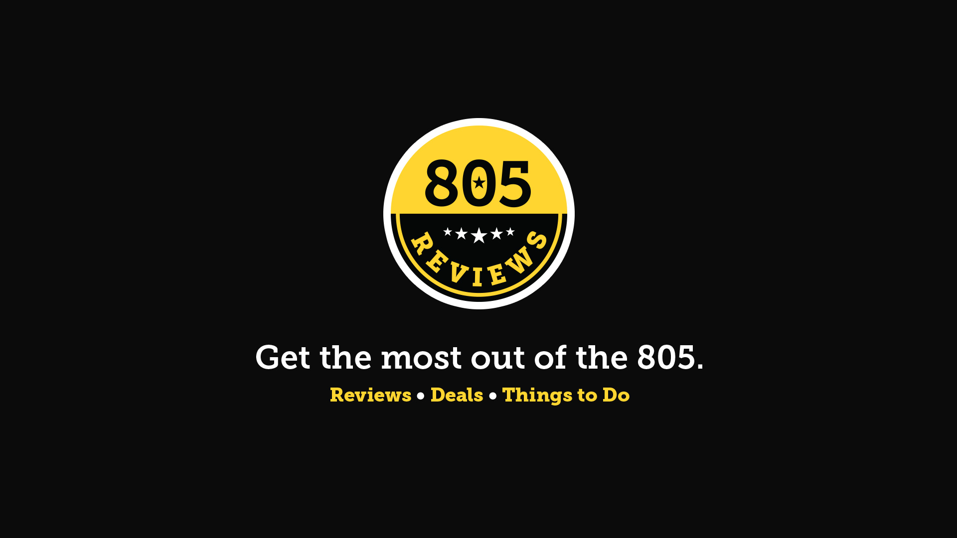 805 Reviews Brand Refresh + Tagline Creation black
