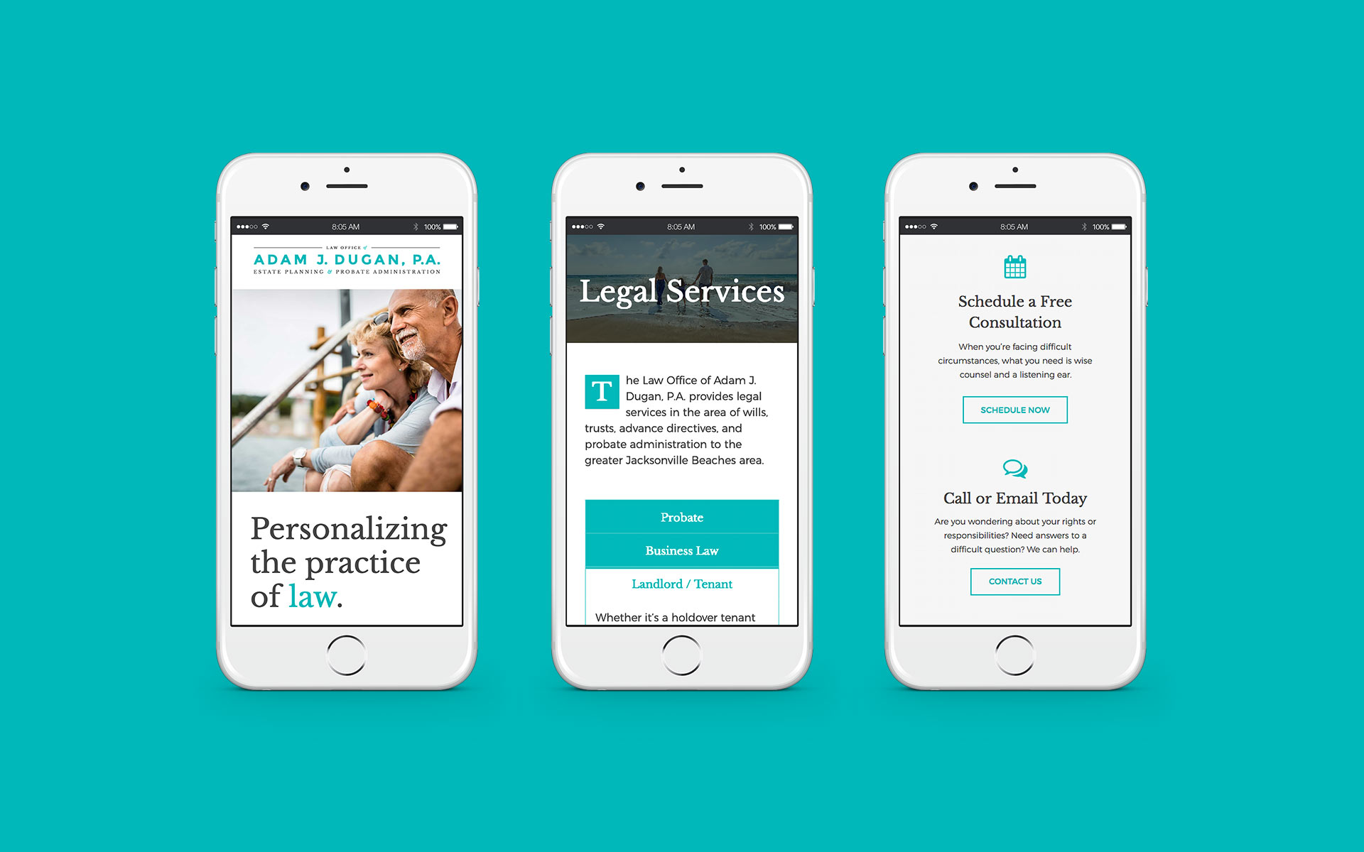 Dugan-Attorney-Website-Redesign-mobile-device