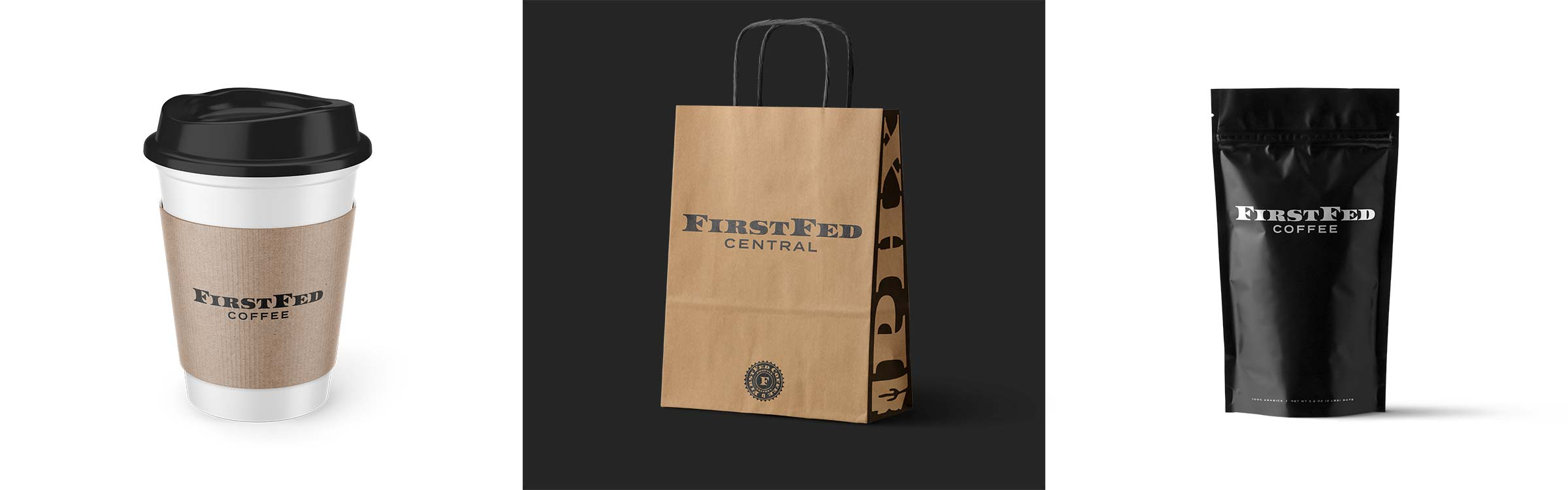 FirstFed Coffee Logo Design 08 branded products