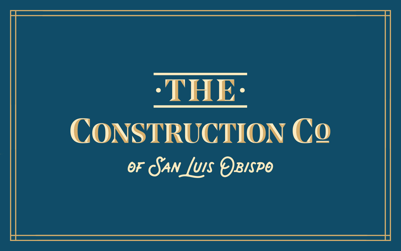 THE Construction Co of SLO brand development cover