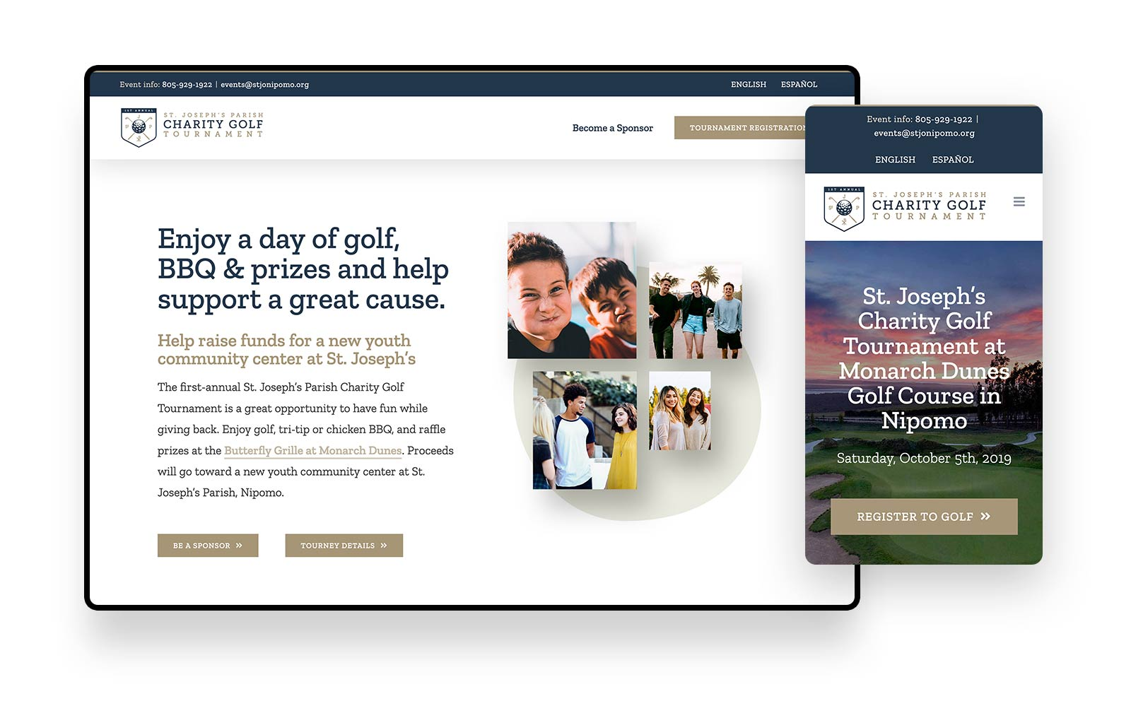 Website-Design-St-Josephs-Nipomo-Charity-Golf-Tournament